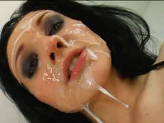 Bukkake, Hd, Facial, Amatuer facial
