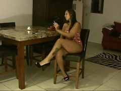 Black, Latina, Smoking, Mom, Mom blackmail