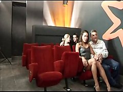 Cinema, Couple, Blowjob at the cinema