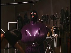 Latex, Lesbian, Mask, Bound in latex