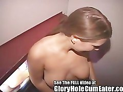 Wife, Swallow, Gloryhole, Amateur wife swallow at gloryhole