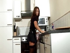 Kitchen, Milf, Milf ass big dick