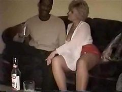 Black, Wife, Drunk, Creampie, Watches wife