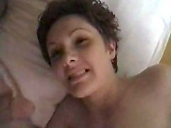 Short Hair, Wife, Facial, Fucked up facials