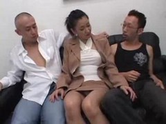 Asian, Japanese, Threesome, Homemade anal threesome