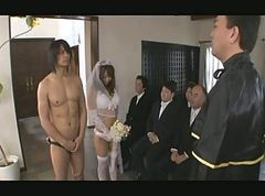 Asian, Gangbang, Japanese, Bride, Bride party