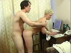 Mom, Mom gives son blowjob