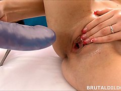 Brutal, Dildo, Brutal anal threesome