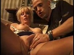 German, Threesome, Mature, Mmf threesome with dp and two facials