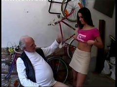 Teen, Money, Old Man, Old man webcam