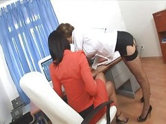 Office, Secretary, Threesome, Abuse office