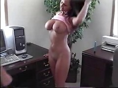 Office, Amateur spy cam webcam office desk doggystyle