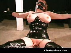 Rubber, Latex, Slave, Milf, Rubber latex sissy mistress