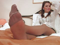 Feet, Nylon, Mature feet