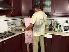 Anal, Kitchen, Mom and son in kitchen