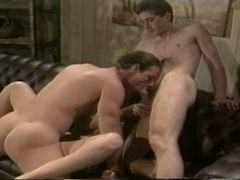 Bisexual, Classic, Ass, Threesome, Bisexual sharing cock