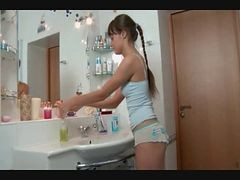 Bath, Bathroom, Cute, Russian, Indian aunty bath