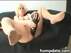 Babe, Fisting, Dildo, Huge dildo and cock in ass