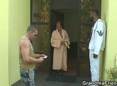 Granny, Orgy, Interracial, Threesome, Asslicking threesome