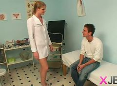 Blonde, Ass, Nurse, Old men and hairy nurse
