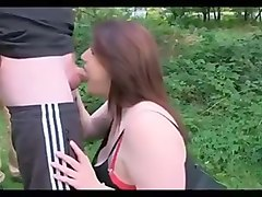 Chubby, Dogging, Asian public blowjob