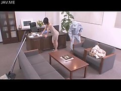 Housewife, Wife, Horny housewife teases plumber
