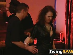 Couple, Party, Time for great long time sex in swingers party