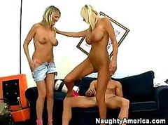 Blonde, Threesome, Threesome amateur