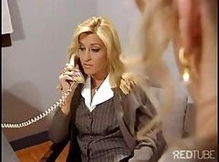 Bus, Blonde, Office, Babe, Fuccked in the office