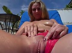 Facial, Teen gets messy facial after hand and blowjob