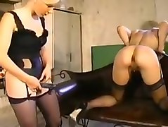 Anal, Rough, French, Strapon, French milf in a rough threesome