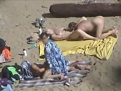 Couple, Beach, Webcam young couple