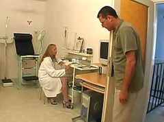 Anal, Doctor, Teacher, Exam, Male doctor examines cock