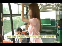 Asian, Bus, Hairy, Babe, Banger bus