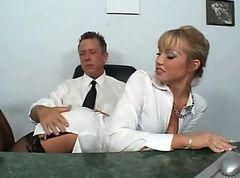 Secretary, Nylon, Pantyhose nylon pissing squirting