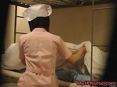 Asian, Japanese, Nurse, Young nurse takes good care of an old man in a