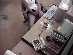 Office, Caught, Hidden, Spy, Caught dildoing