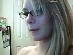 Blonde, Glasses, Ass, Granny ass licking