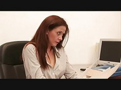 Office, Lesbian, Busty office secretaries