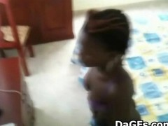 Ebony, Caught, Spy, Maid, Caught by hotel maid
