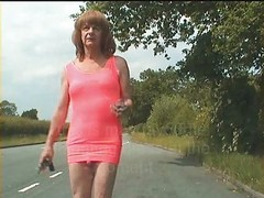 Hooker, Aunt, Outdoor, Private video with mature hooker