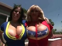 Threesome, Big Tits, Camping amp threesome