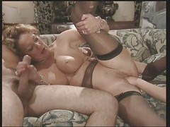 German, Threesome, Mature, Mature young threesome